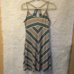 Patagonia Size M Striped Brown / Blue Sport Dress